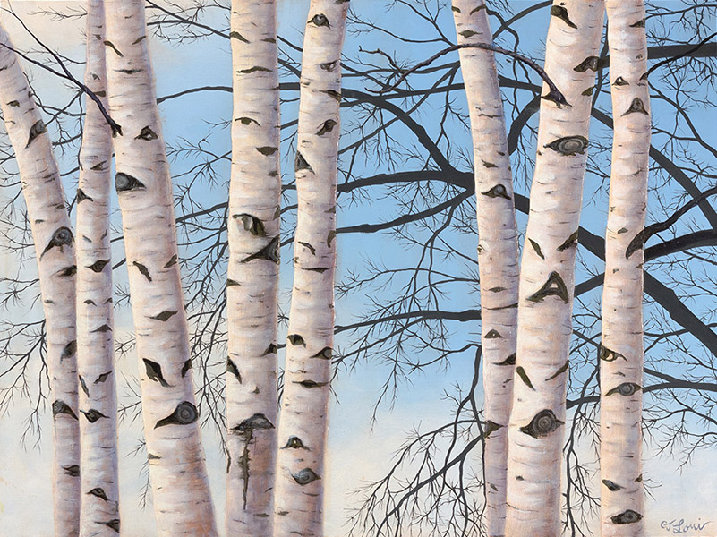 "Conversations in Birch — oil on panel, 18 x 24"", 2015 (Private Collection)"