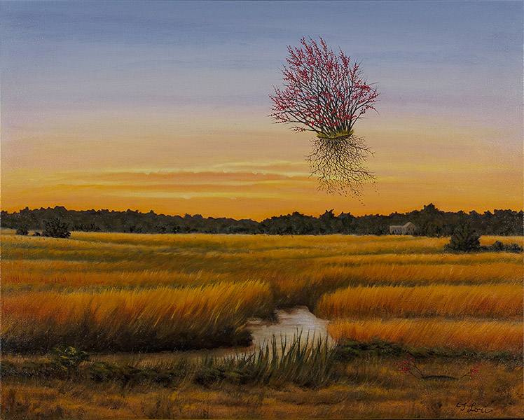 "Ilex Away, Barnstable County — oil on canvas, 24 x 30"", 2016 (Private Collection)"
