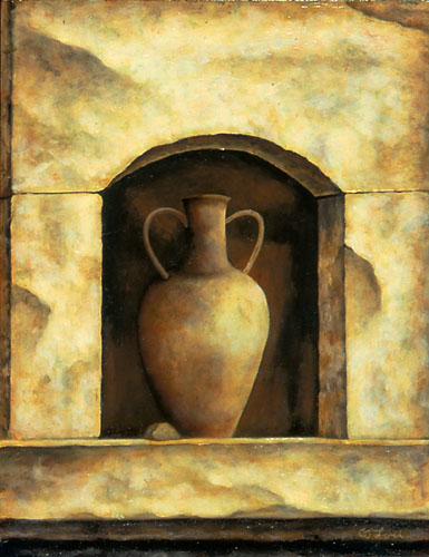 "AMPHORA I, oil on panel, 14 x 11"", 2005 (Private Collection)"