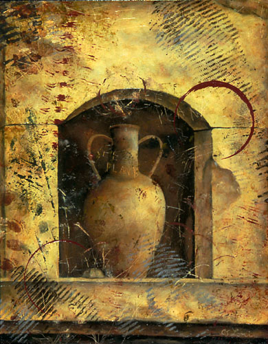 "AMPHORA II, oil on panel, 14 x 11"", 2005 (Private Collection)"