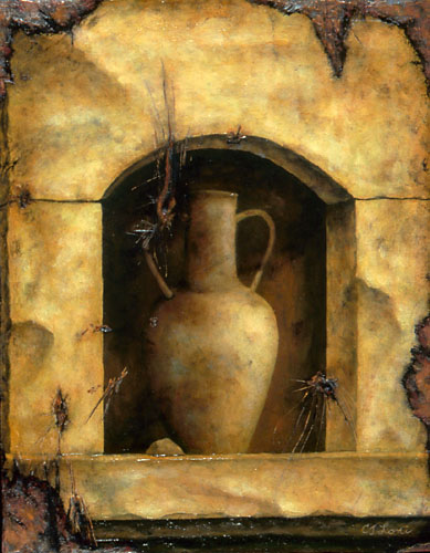 "AMPHORA III, oil on wood, 14 x 11"", 2005 (Private Collection)"