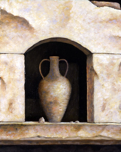 "AMPHORA, VI, oil on wood, 10 x 8"", 2008 (Private Collection)"