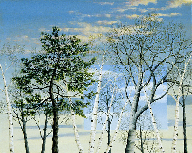 "MARCH BRANCHES II, oil on panel, 16 x 20"", 2008 (Private Collection)"