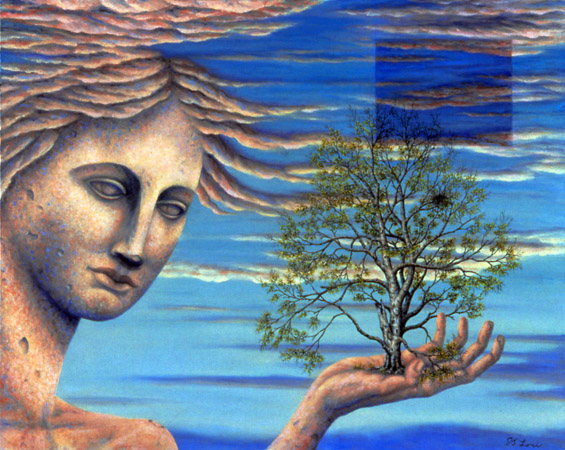 "PERSEPHONE, oil on canvas, 24 x 30"", 2004 (Private Collection)"
