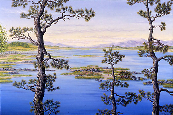 "Cape Kerry Blues, oil on canvas, 20 x 30"", 2001 (Private Collection)"