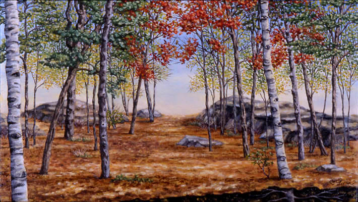 "Off Hammond Path, oil on canvas, 9 x 16"", 2000 (Private Collection)"