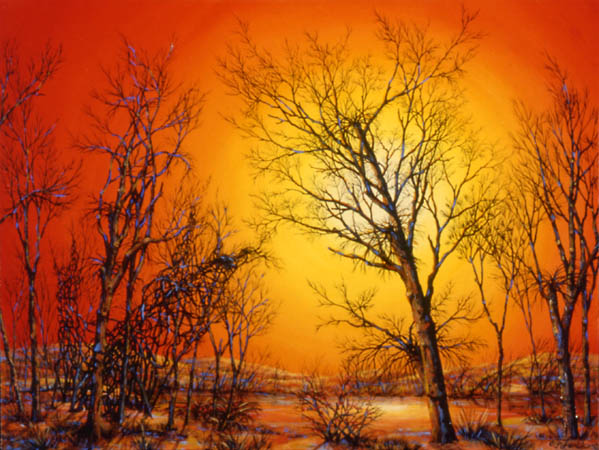 "Warm Winter, oil on panel, 12 x 16"", 2003 (Private Collection)"